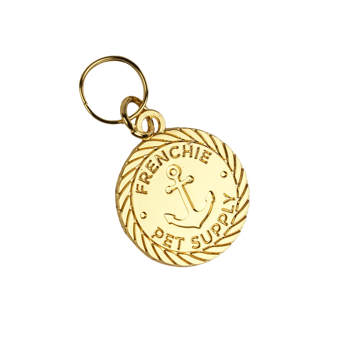 Nautical Gold ID Tag