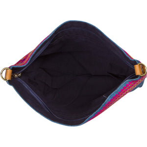 Embroidered Indigo Shoulder Bag
