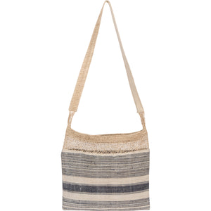 Striped Bag with Khmu Vine Top