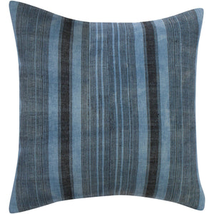 Striped Indigo Pillow Case