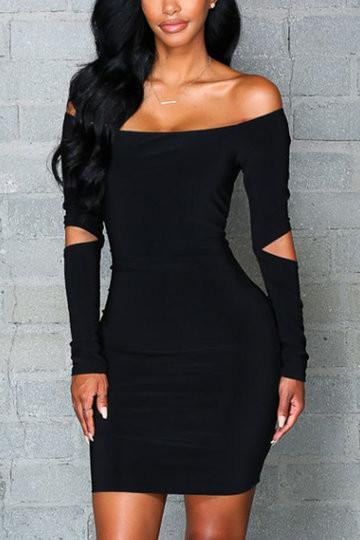Miranda Off Shoulder Strapless Cut-out Bodycon Dress