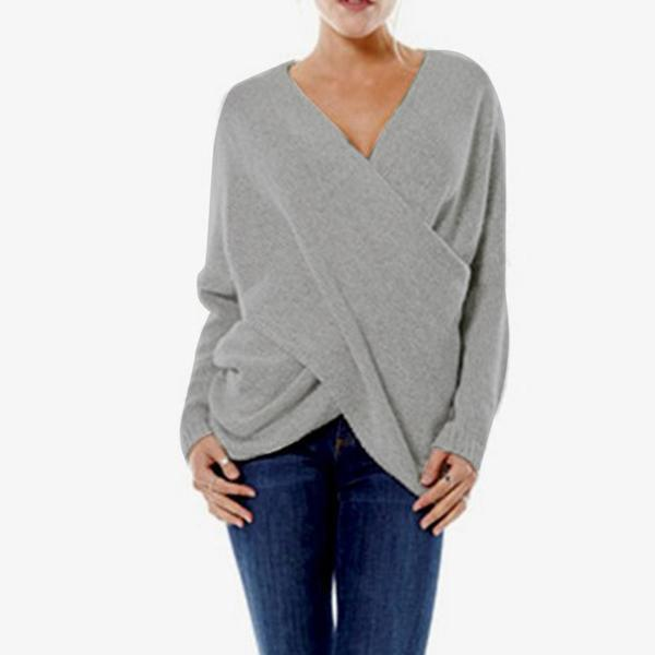 Kitty Sexy Off Shoulder Pullover Wrap Sweater