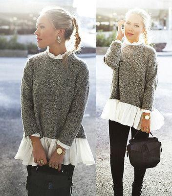 Tilda Long Sleeve Loose Knitted Sweater Pullover