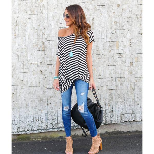 Tania Striped Long T-shirt Top