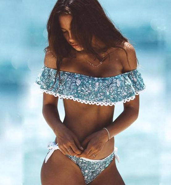 Ruffled Summer Two Piece Bikini