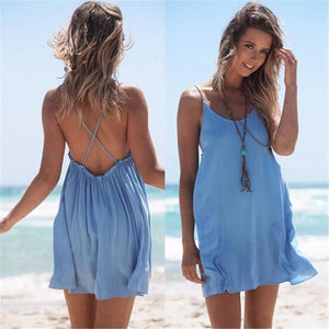 Ellen Backless Beach Summer Dress
