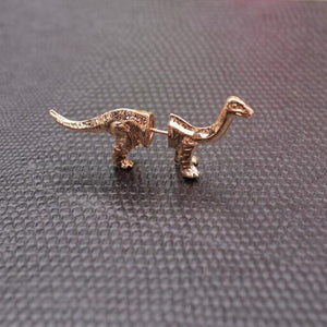 Brontasaurus Dinosaur Cuff Gothic Punk Earrings