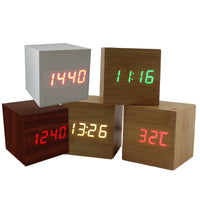 WoodenPie Square led alarm clock