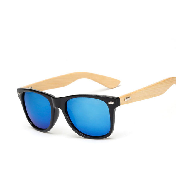 WoodenPie bamboo frame sunglasses with mirror lenses - 2017 model