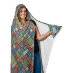 Peace and Love Bus Hooded Blanket With Hand Warmers