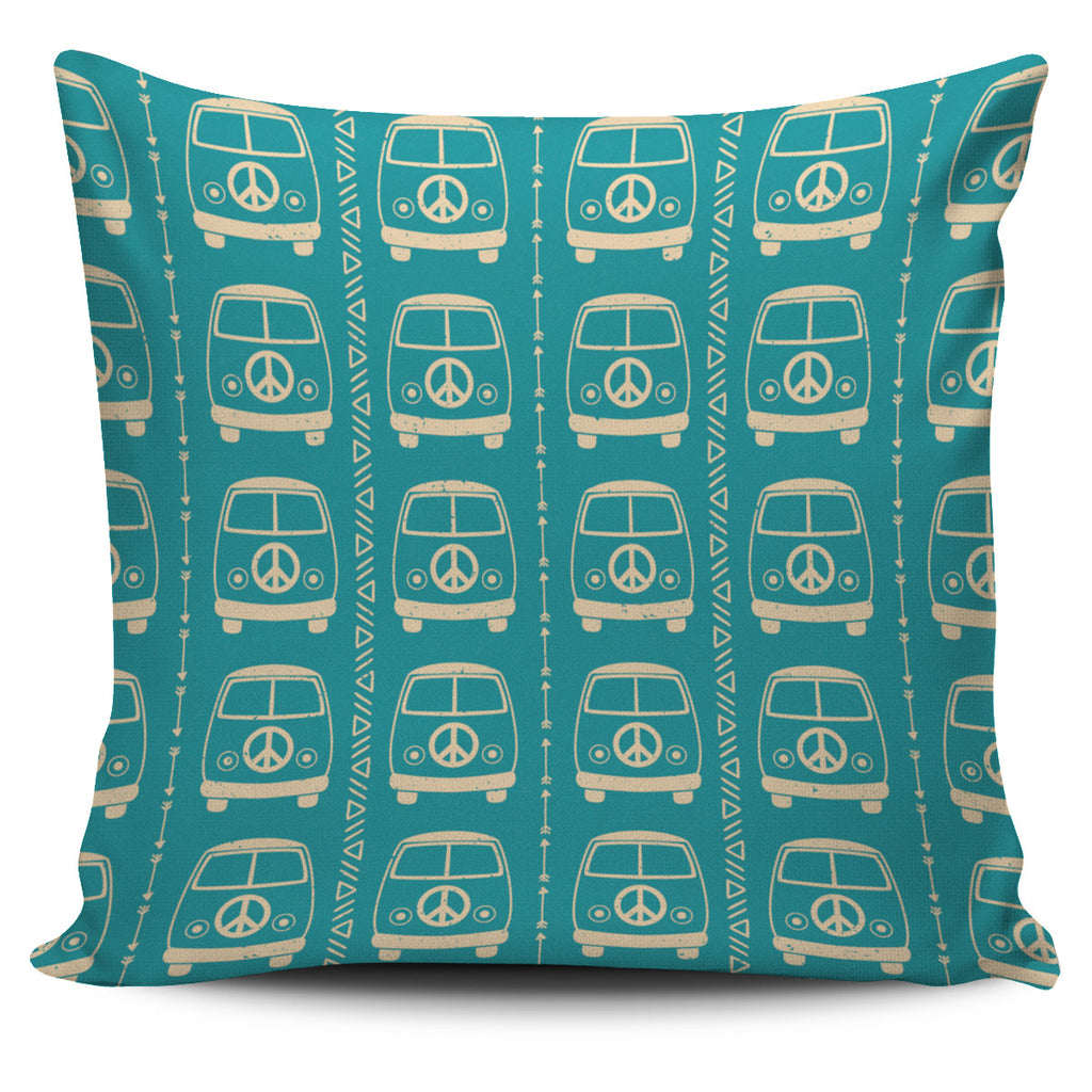 Peace Bus Pillow Cover