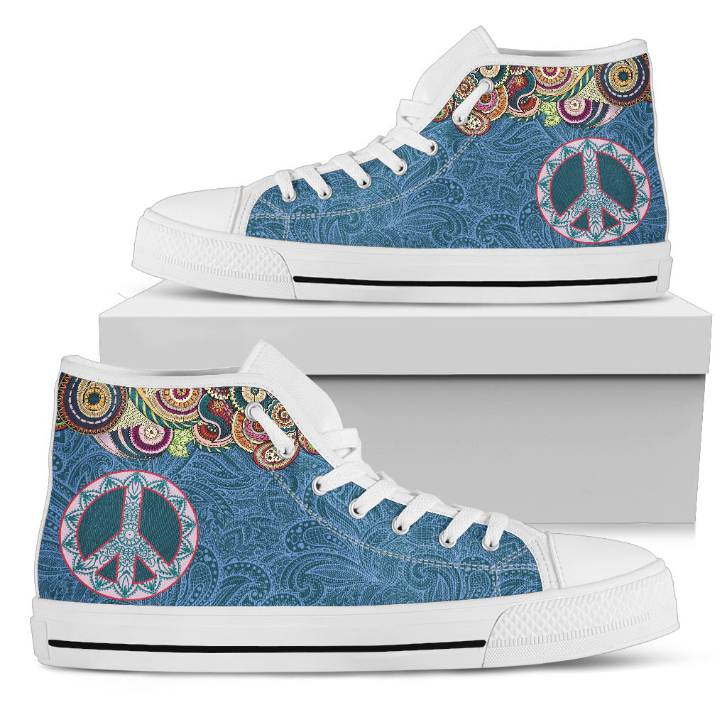 Peace Sign High Tops