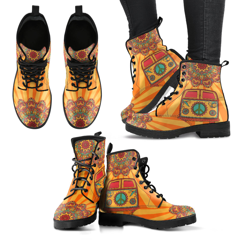 Hippie Bus Handcrafted Boots