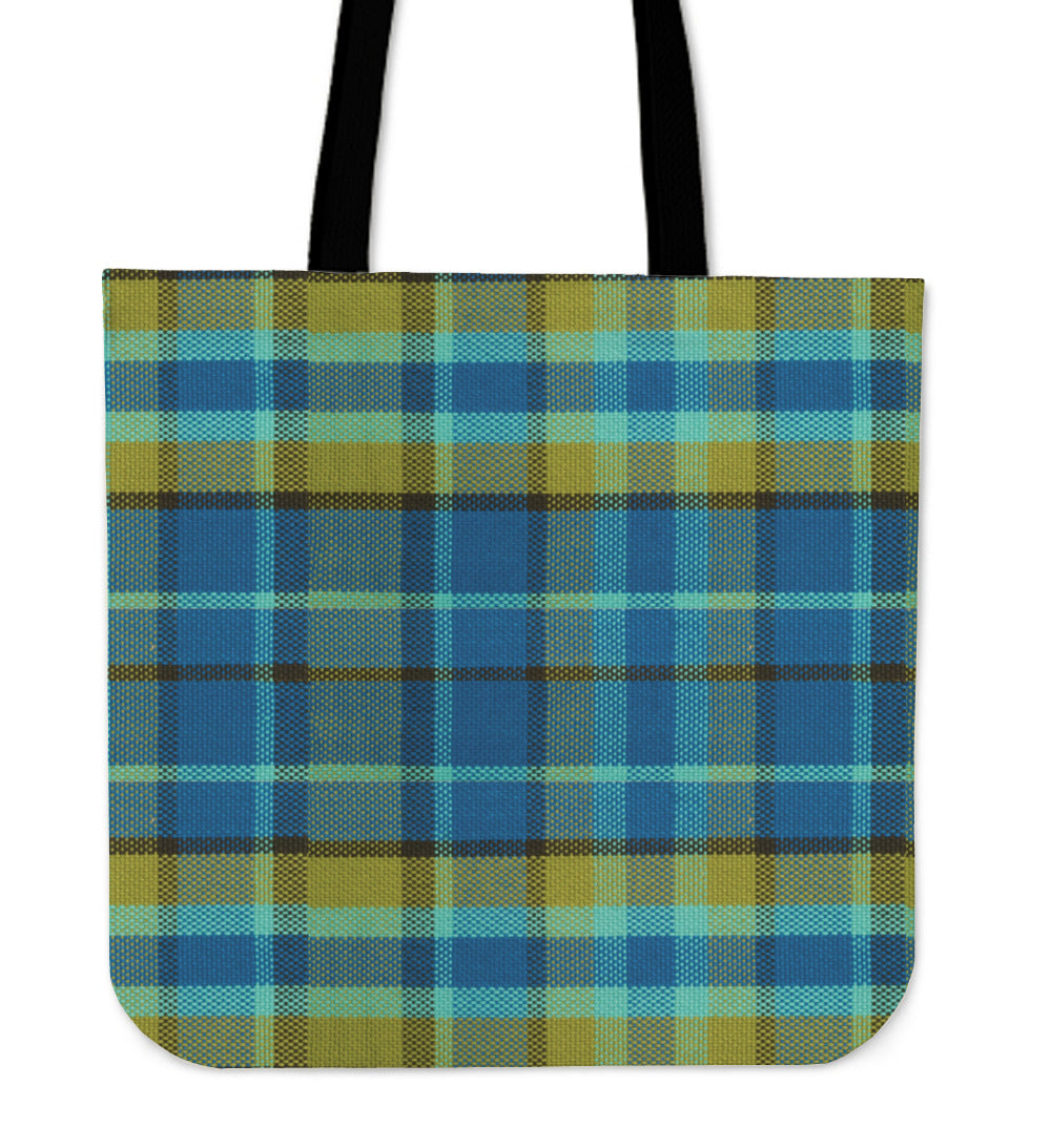 Blue Plaid Tote Bag