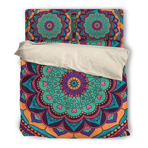 Beige Bedding Set Mandala