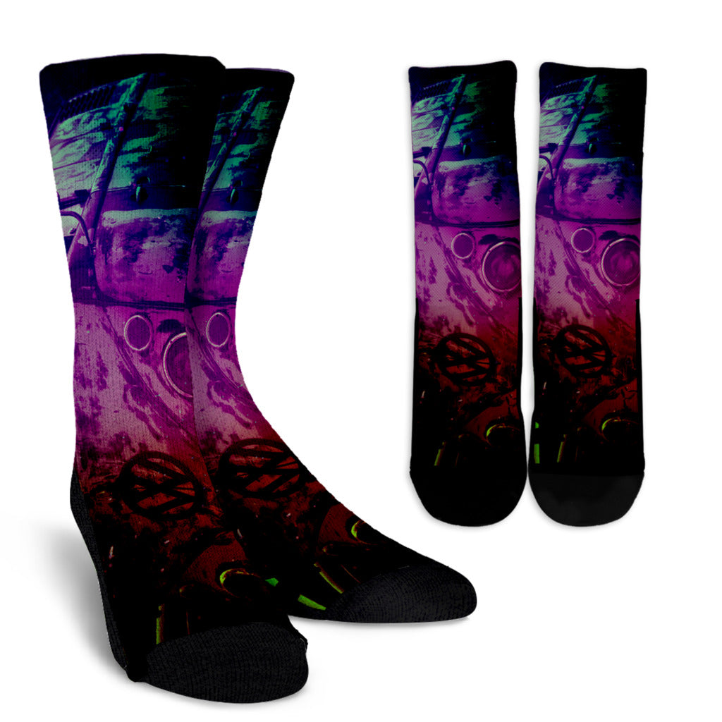 Purple Haze Split Window Socks