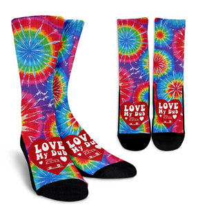 Tie Dye Love my Dub Socks