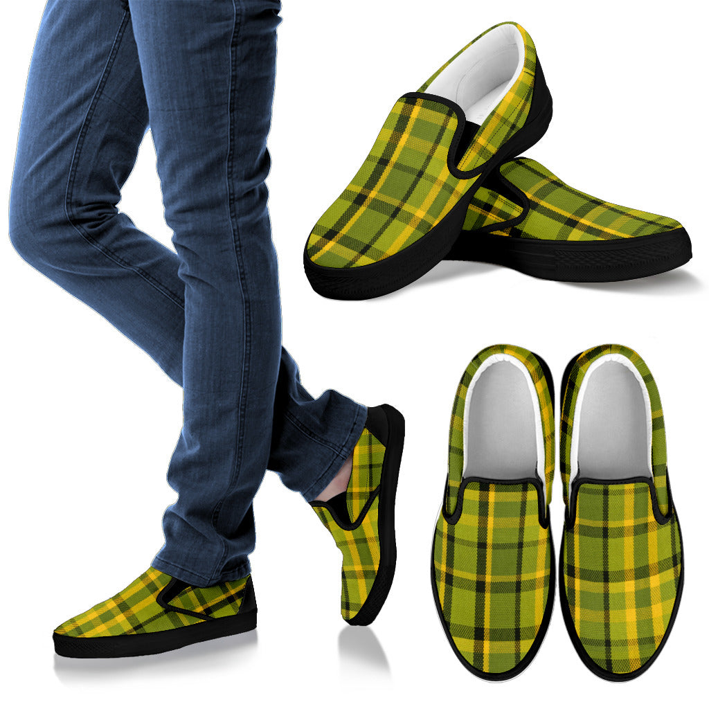 Westy Green Plaid Slipons