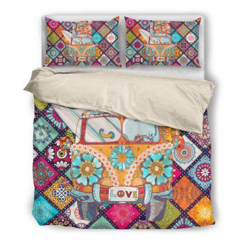 Peace & Love VW Bus Duvet Set
