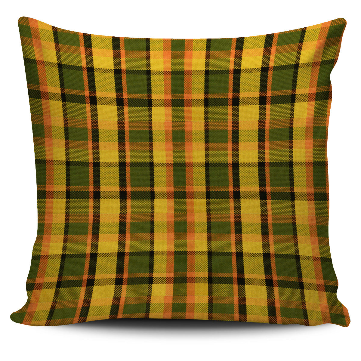 Retro Yellow Plaid Pillow Case