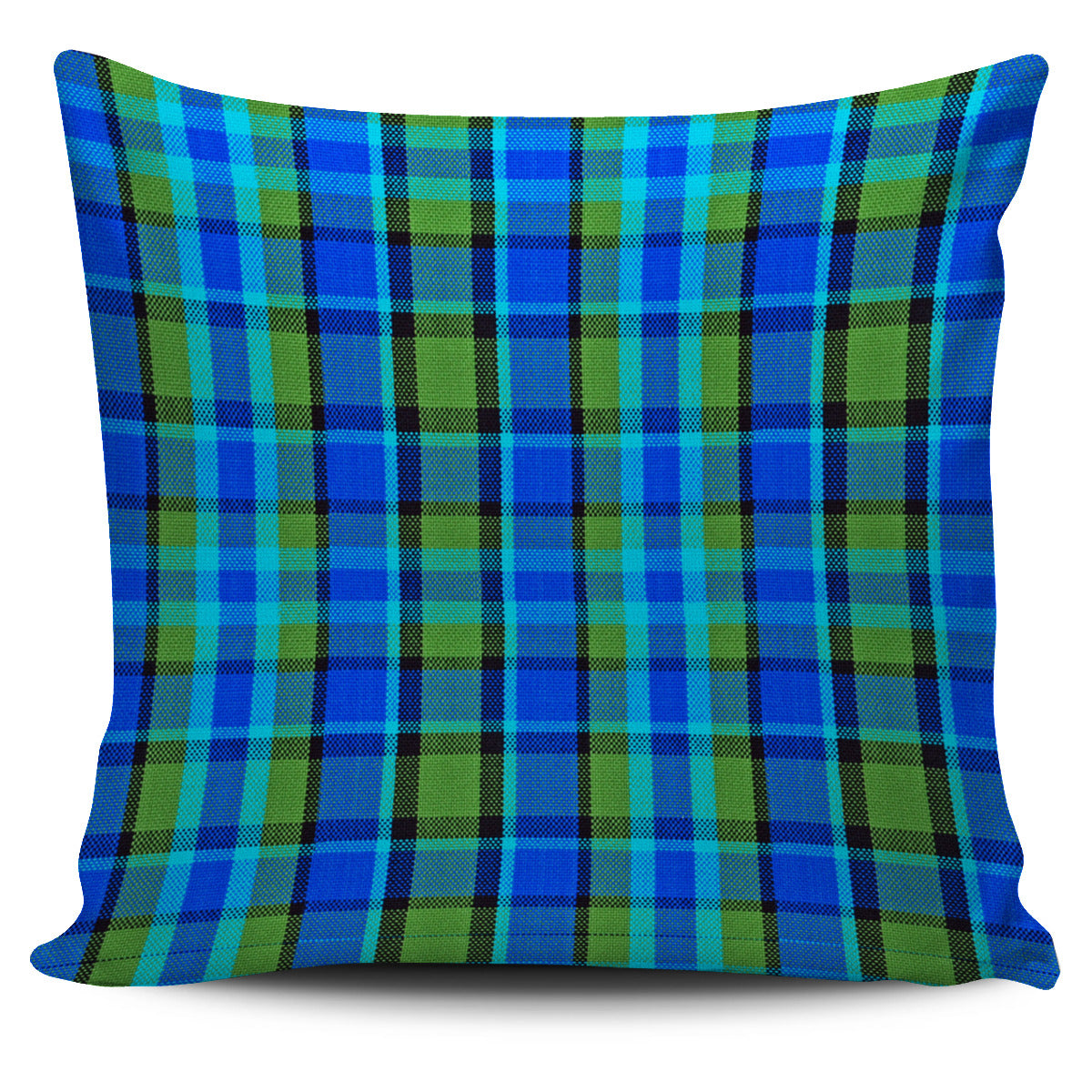Westy Blue Plaid Pillow Cover