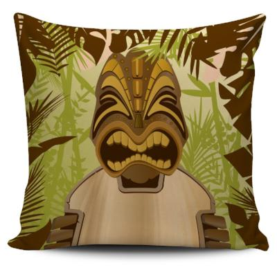 Tiki King Pillow Cover Set