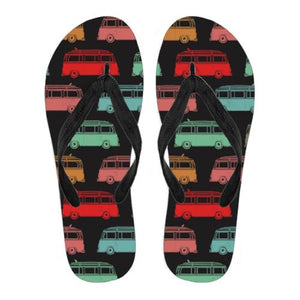 Surf Bus Flip Flops - Black Version