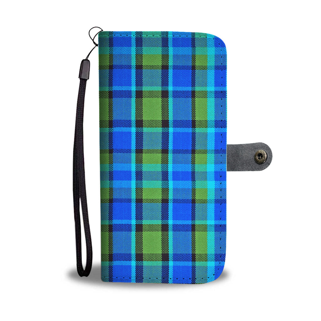 Westy Blue Plaid Wallet Phone Case