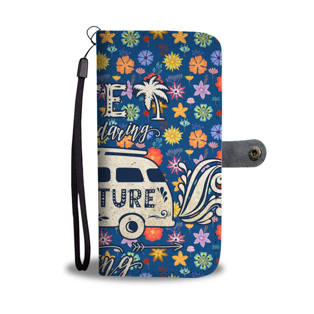 Daring Adventure Flowers Wallet Phone Case