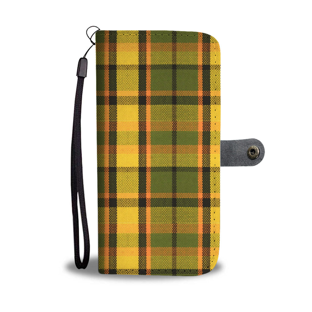 Westy Orange Plaid Wallet Phone Case