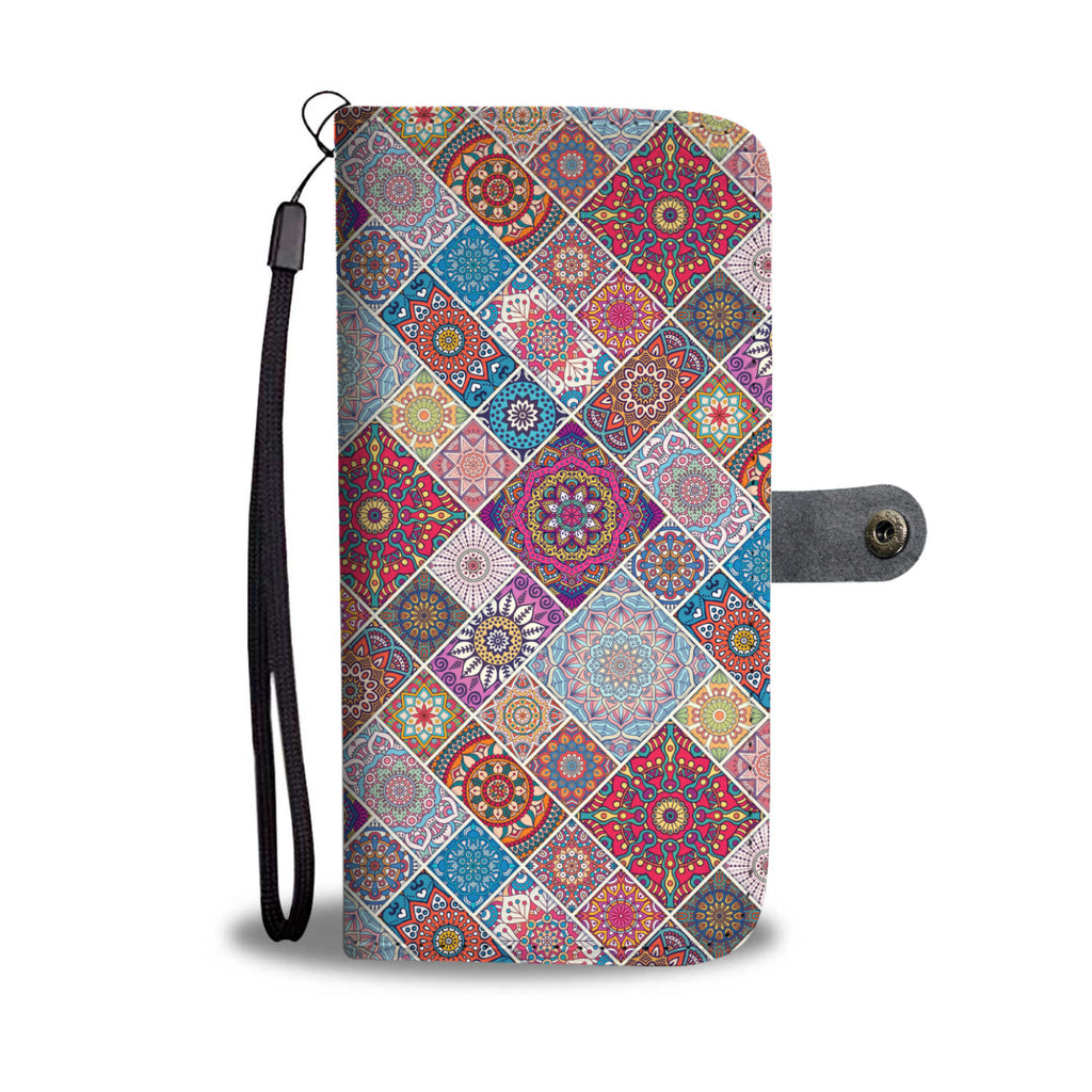 Bohemian Patches Phone Wallet