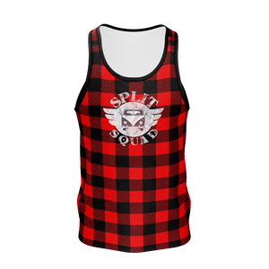 Lumberjack Red Plaid Men's Tank Top