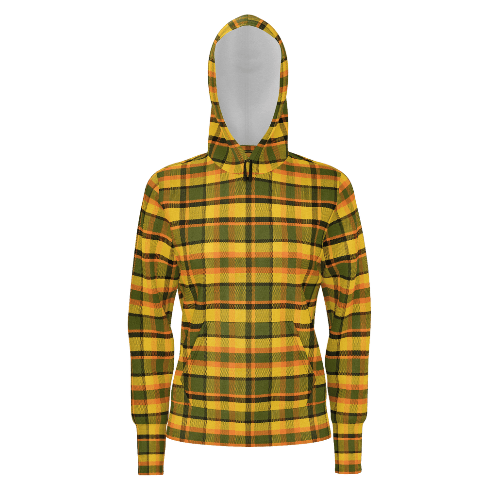 Retro Yellow Plaid Zip Hoodie lightweight