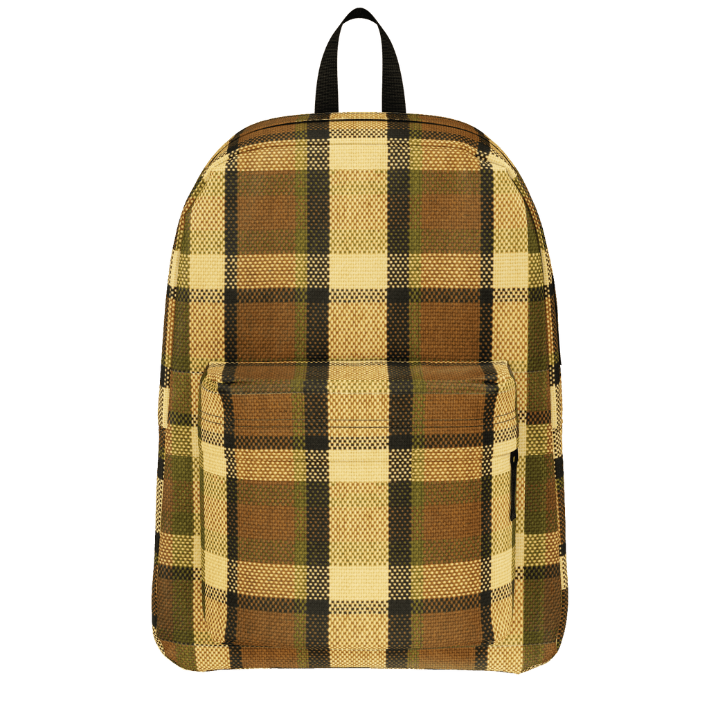 Westy Brown Plaid Backpack