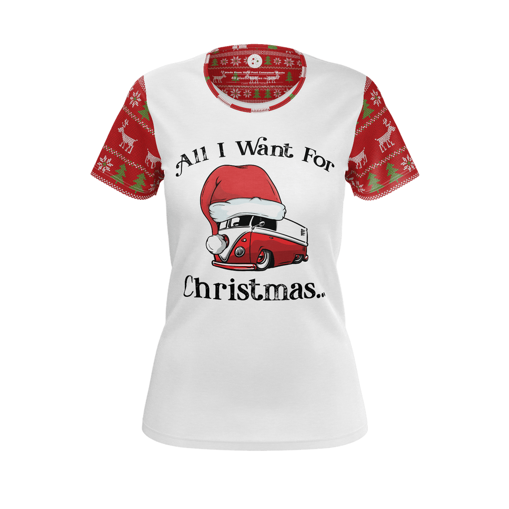 All I Want For Christmas Womens RPET Shirt White