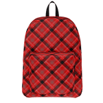 Vintage Red Plaid Backpack