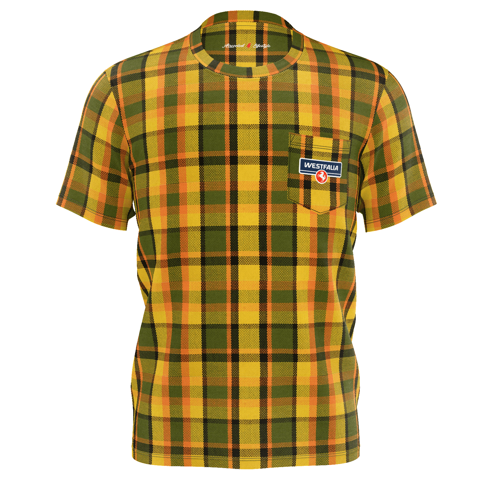 Westfalia Yellow Plaid Pocket Tee