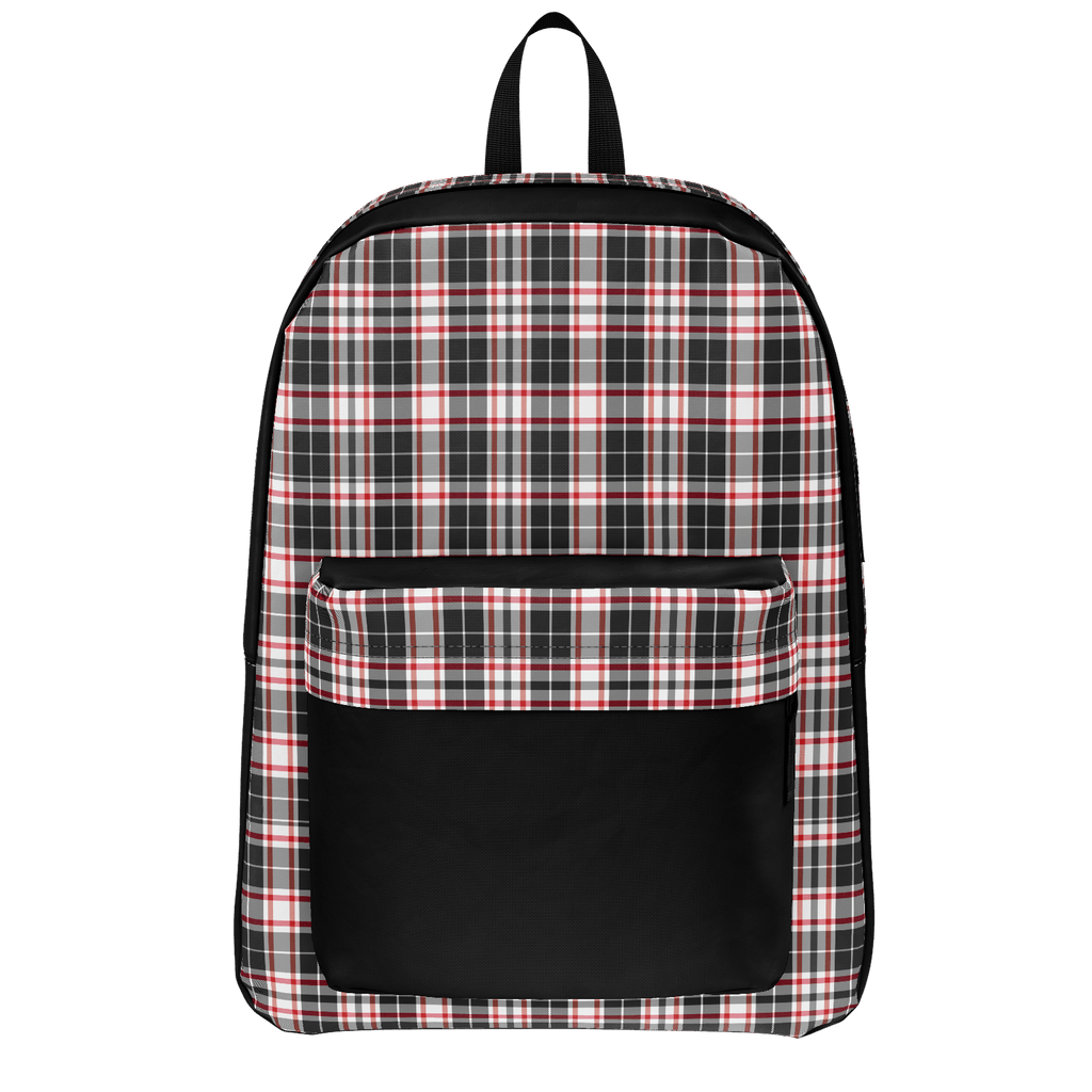 """Airhead"" Retro Plaid Backpack"