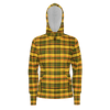 Retro Yellow Plaid Pullover Hoodie Heavyweight