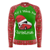 All I Want For Christmas Womens RPET Sweater Green