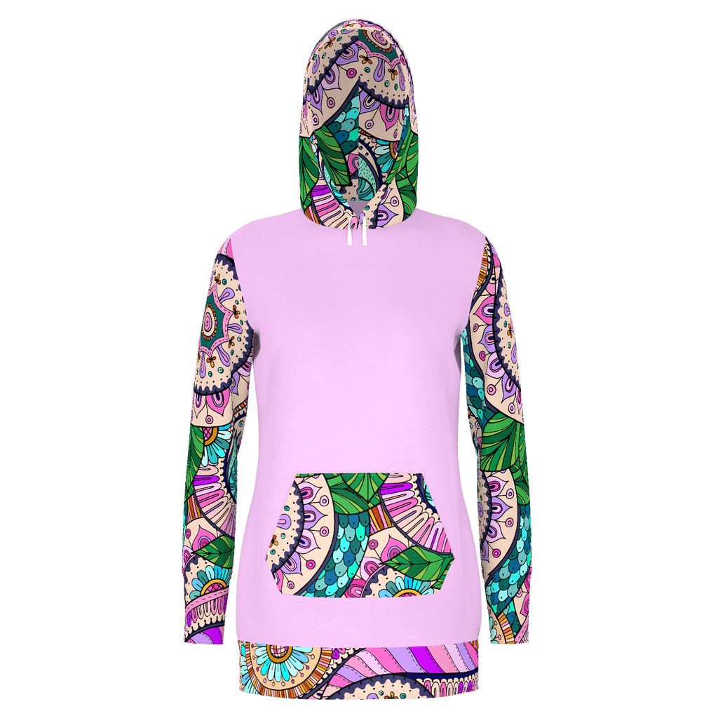 Trippy  Swirls Hoodie Dress - RPET