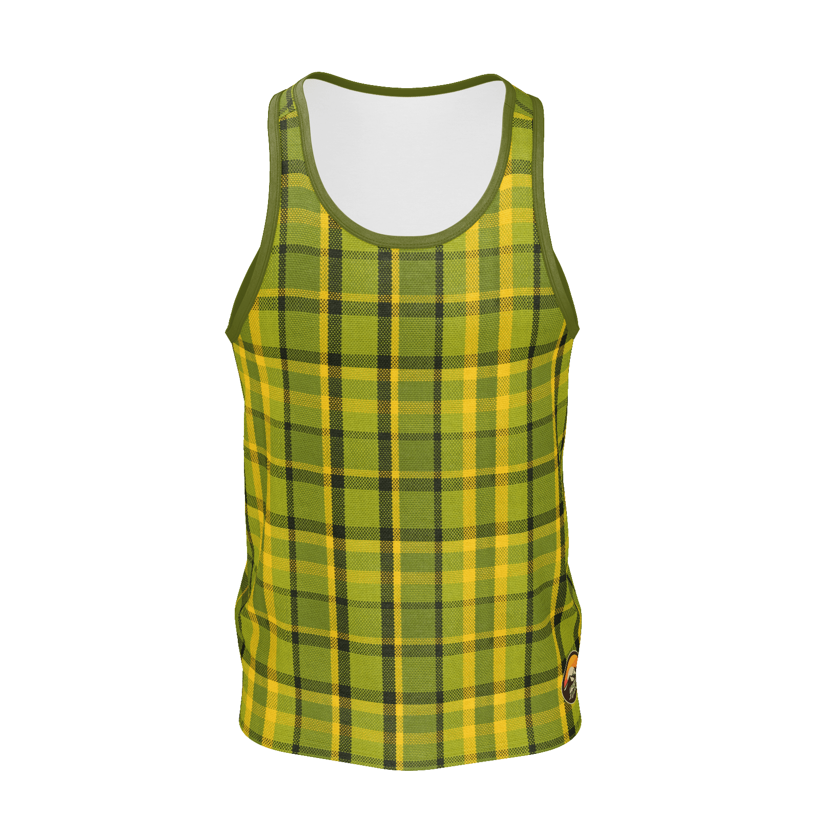 Retro Green Plaid Men's Tank Top