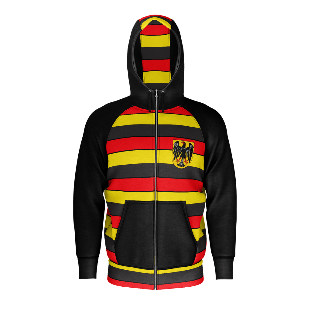 German Retro Eagle Stripes Zip RPET Hoodie