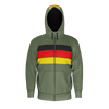 German Retro Stripe Zip RPET Hoodie