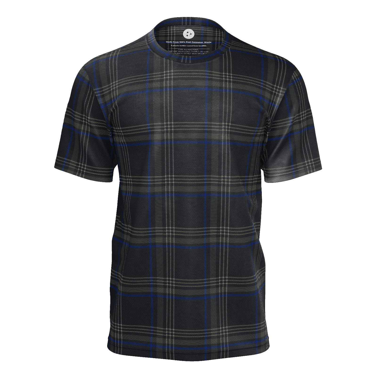 MK7 Clark Plaid  blue & Black Mens Tee
