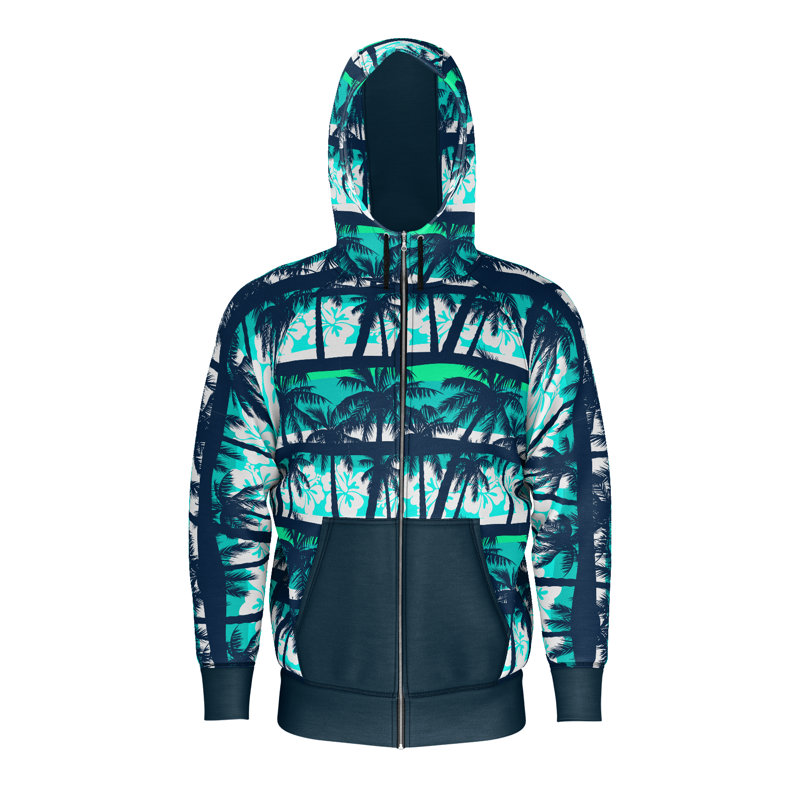 Aloha Days Mens Heavyweight Zip Hoodie