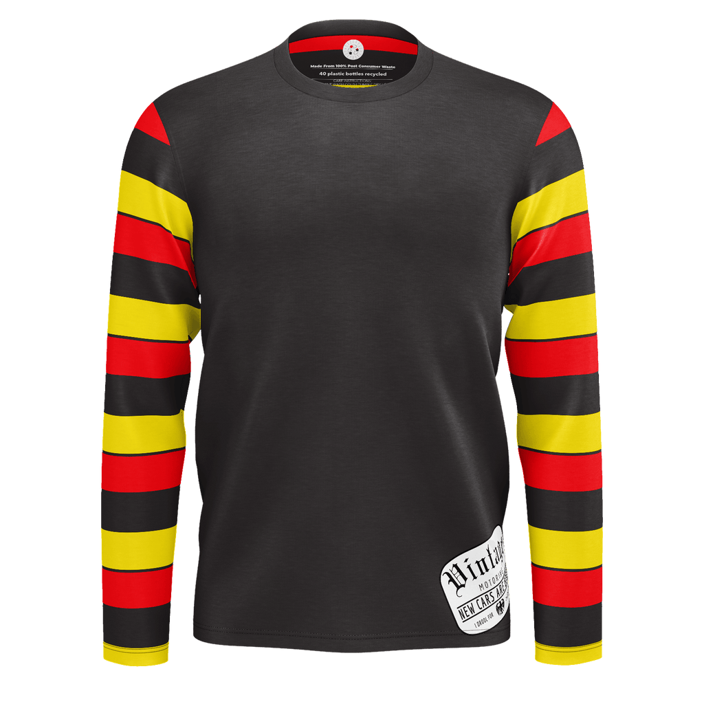 Vintage Motoring Heritage & Black RPET Long Sleeve