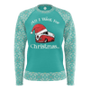 All I Want For Christmas Womens RPET Sweater SeaMist