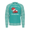 All I Want For Christmas Mens RPET Sweater SeaMist