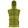 Retro Green Plaid Premium Sleeveless Zip Hoodie